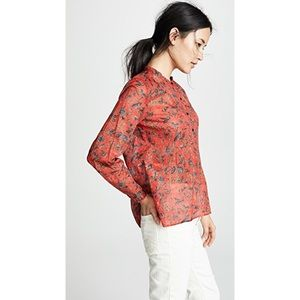 Etoile Isabel Marant Mexika Red Floral Top Size XL